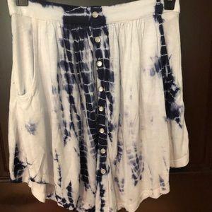 Tie-dye cotton skirt